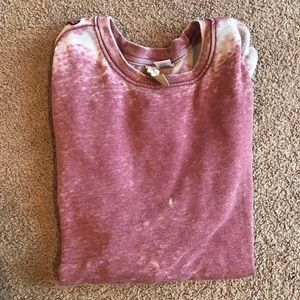 XS Pink Distressed and Faded Evereve Sweatshirt